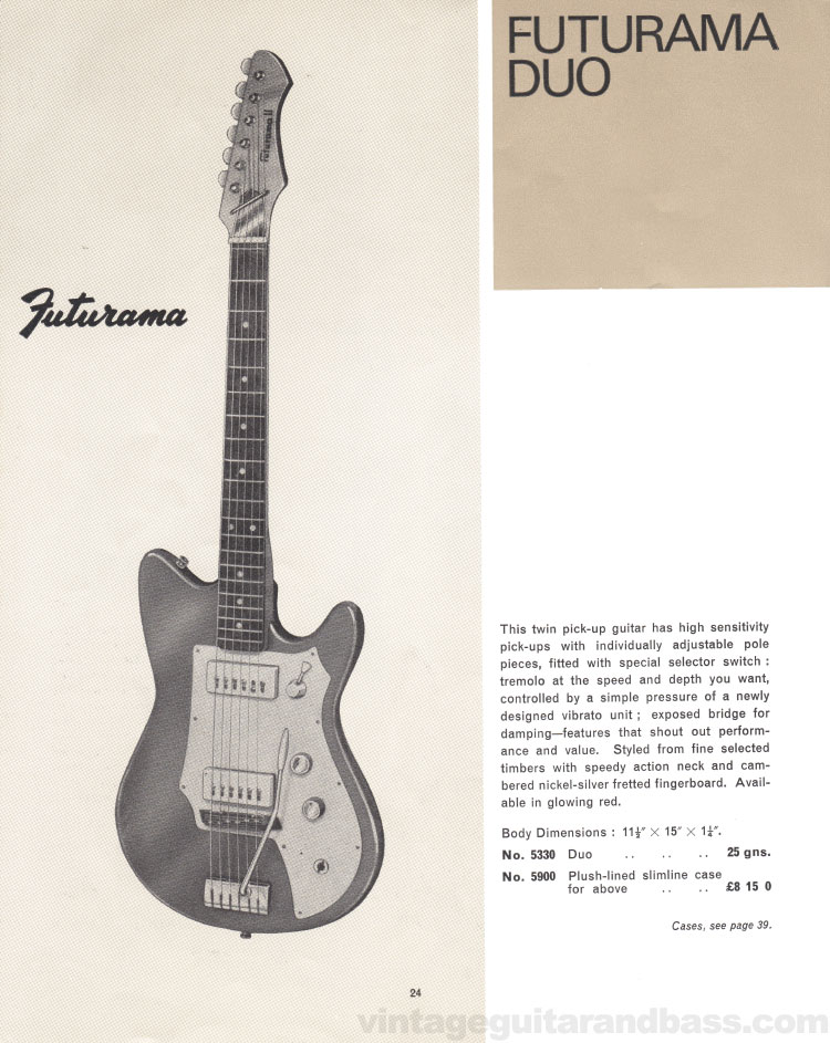 1966 Selmer Catalogue page 24, Futurama Duo