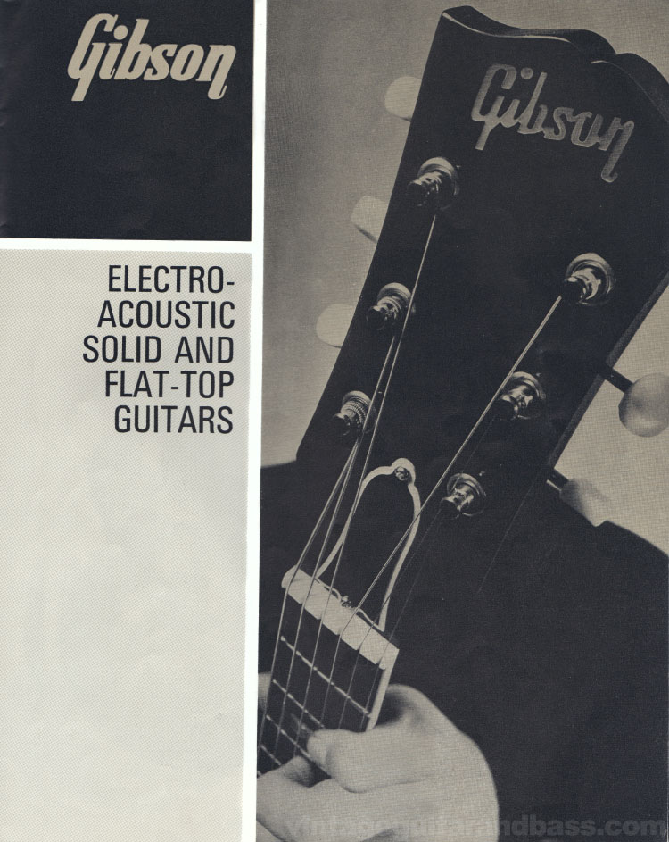 1966 Selmer Catalogue page 27, Gibson Electro-Acoustic, Solid, and Flat-Top Guitars