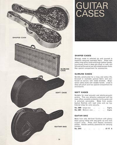 1966 Selmer guitar and bass catalogue page 39