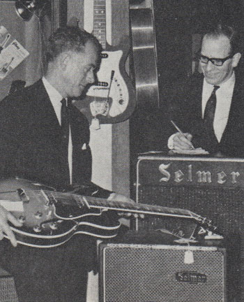 Inside the Selmer shop, circa 1964