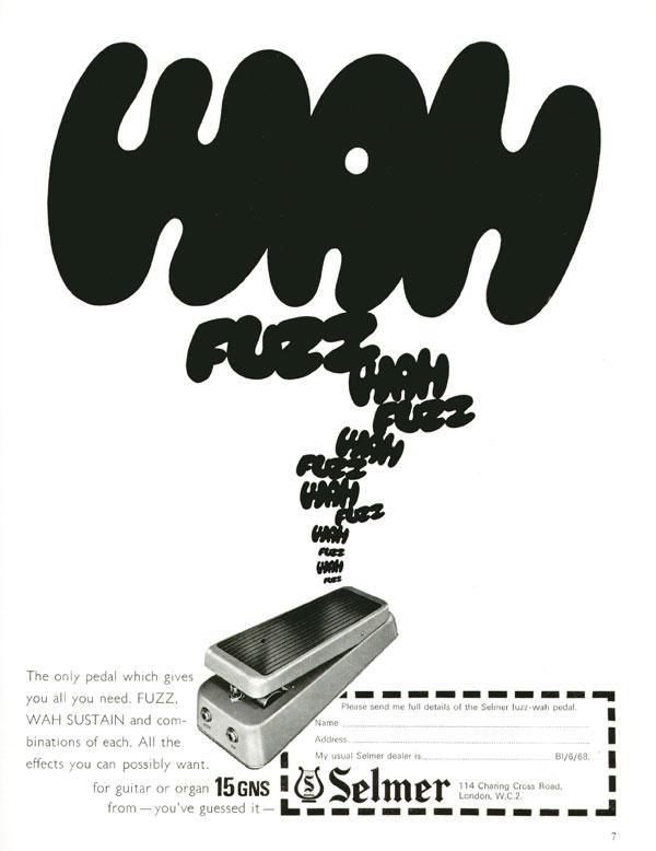Selmer advertisement (1968) Wah Fuzz Wah Fuzz