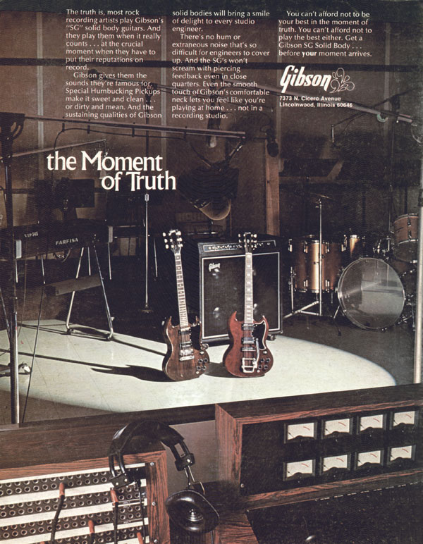 Gibson advertisement (1973) The Moment of Truth
