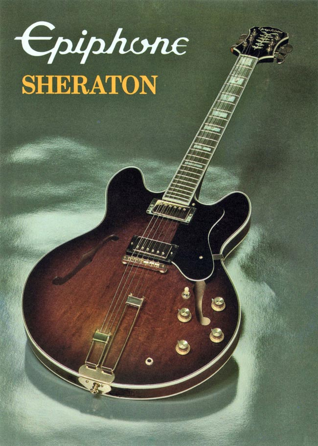 1982 Epiphone Sheraton promotional card - side 1