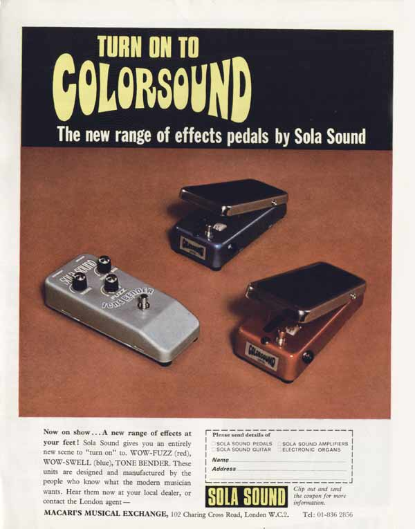 Sola advertisement (1970) Turn On To Colorsound