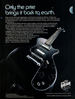 Gibson Sonex advertisement from 1981