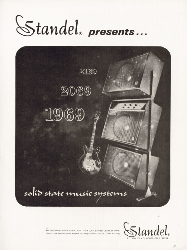Standel advertisement (1968) Standel presents... solid state music systems