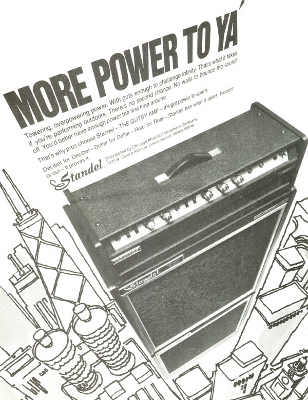 Standel advertisement (1972) More Power to Ya!