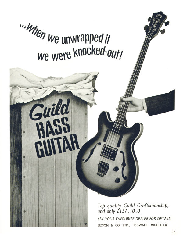 Guild advertisement (1965) When we unwrapped it we were knocked-out