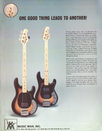 Music Man Stingray - One good thing leads to another