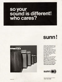 Sunn Amplifiers - So Your Sound Is Different! Who Cares? Sunn