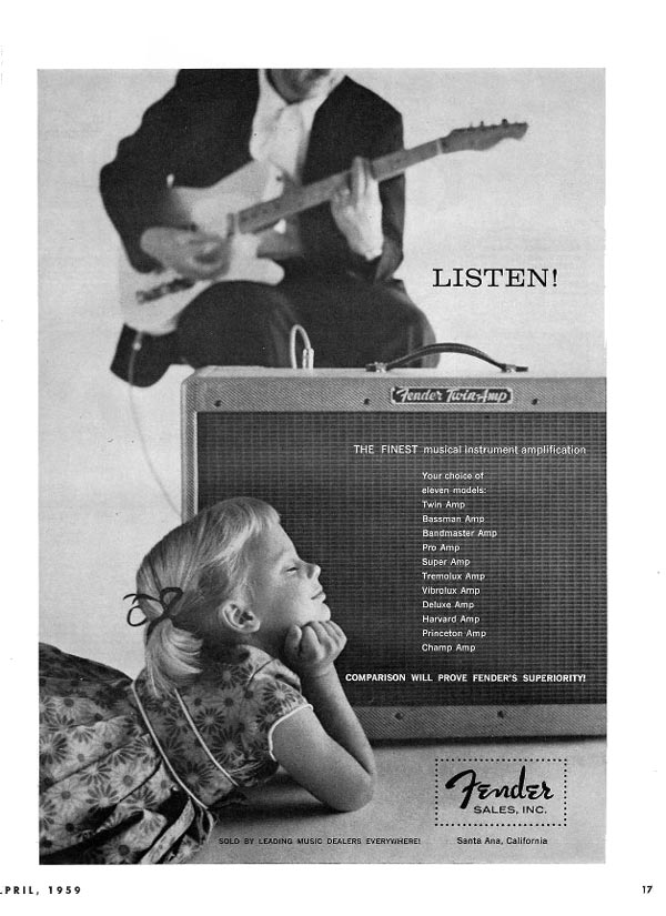 Fender advertisement (1959) Listen