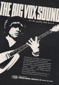 The Big Vox Sound - JMI advertisement for Vox from early 1967