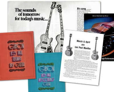 1971/72 Gibson Les Paul Recording promotional material