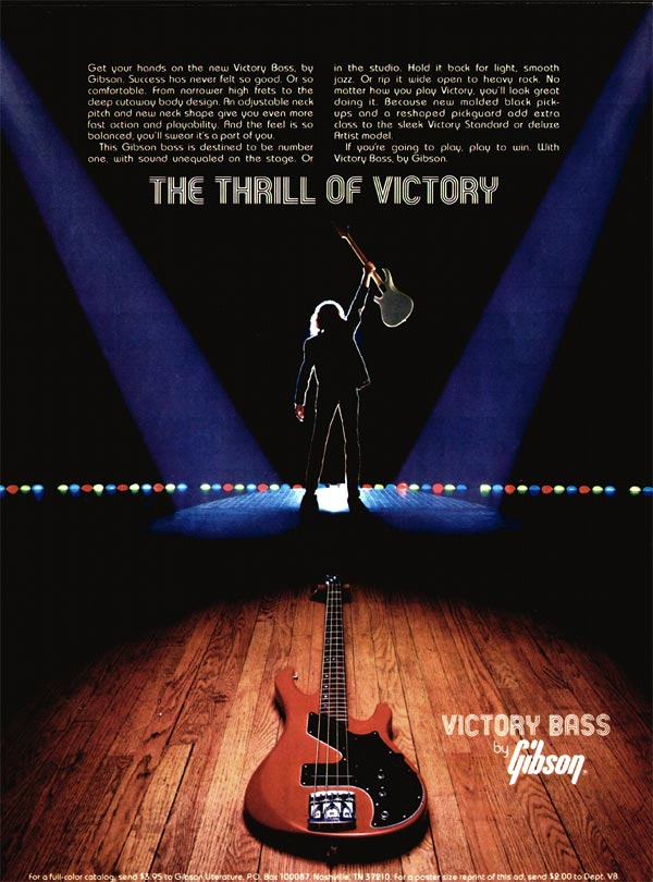 Gibson advertisement (1981) The Thrill of Victory