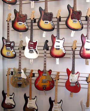 Vintage Fender guitars
