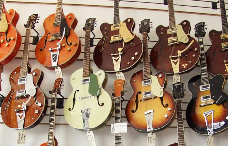 list of gretsch electric guitars and basses vintage guitar and bass. Black Bedroom Furniture Sets. Home Design Ideas