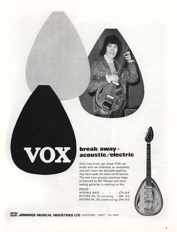 Vox advertisement (1966) Breakaway Acoustic / Electric