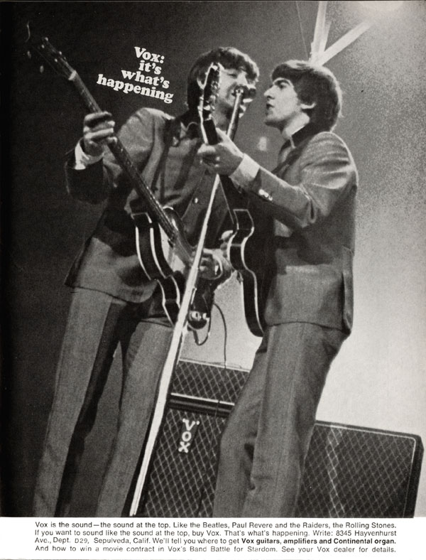 This 1967 Vox Advertisment Shows George Harrison And Paul McCartney