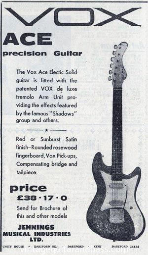 Vox Ace advertisement, 1961