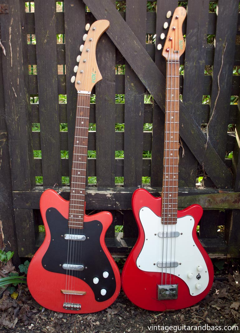 1963 Vox Clubman guitar and 1965 Vox Clubman bass