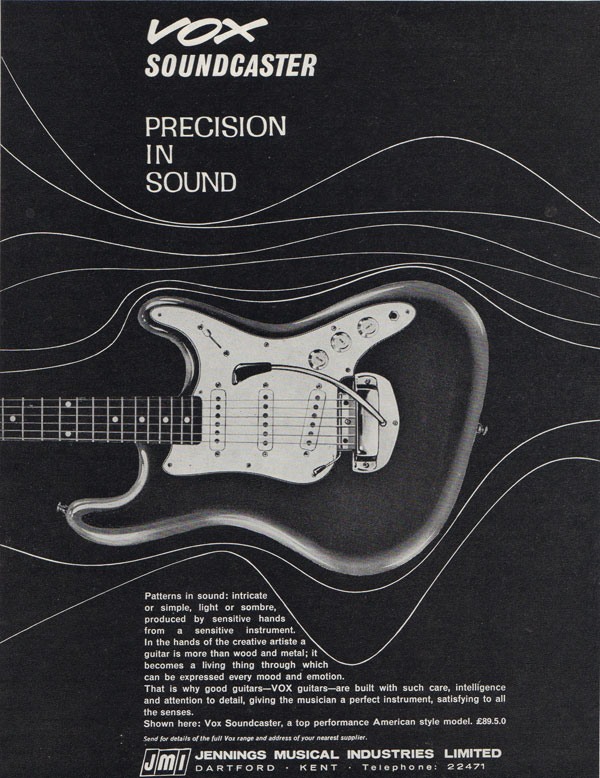 Vox advertisement (1964) Vox Soundcaster Precision in Sound