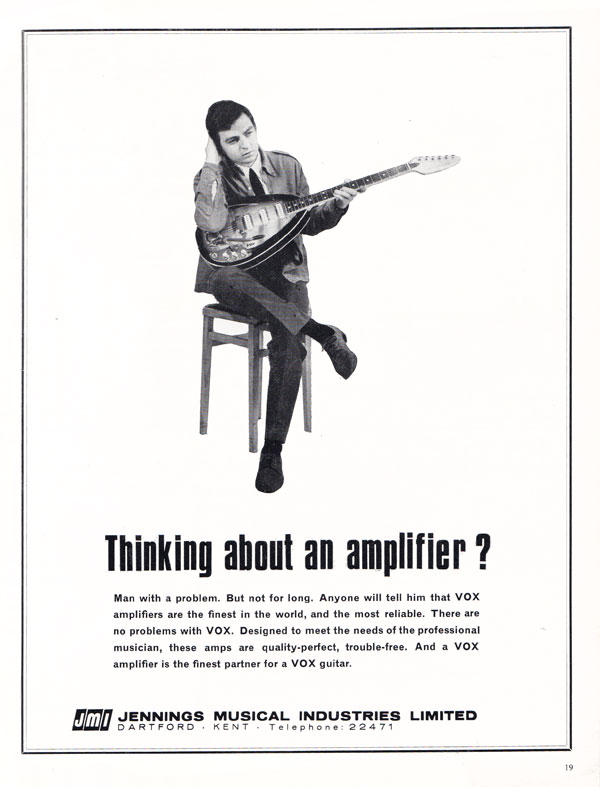 Vox advertisement (1966) Thinking About an Amplifier?