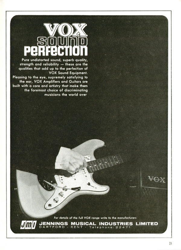 Vox advertisement (1964) Vox sound perfection