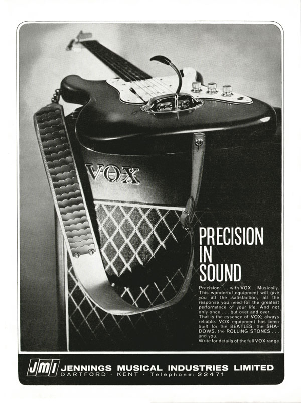Vox advertisement (1964) Precision in Sound