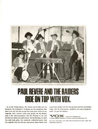 Vox AC 100 Super De Luxe - Paul Revere and the Raiders Ride on Top with Vox