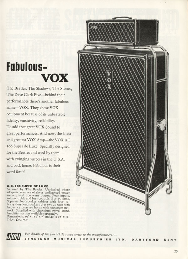 Vox advertisement (1965) Fabulous - Vox