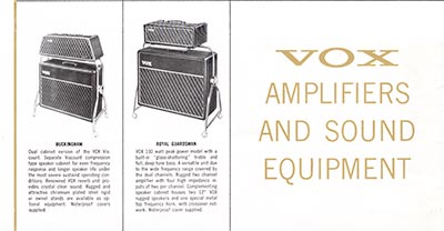 1965 Vox guitar and bass catalogue page 9