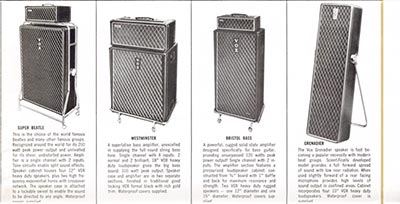 1965 Vox guitar and bass catalogue page 10