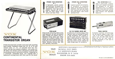 1965 Vox guitar and bass catalogue page 11