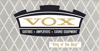 1965 Vox guitar and bass catalogue cover