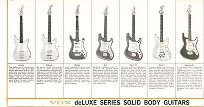1965 Vox guitar and bass catalogue page 3