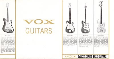 1965 Vox guitar and bass catalogue page 4