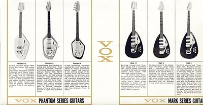 1965 Vox guitar and bass catalogue page 5