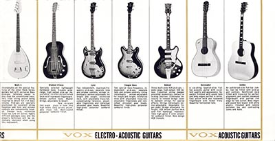 1965 Vox guitar and bass catalogue page 6