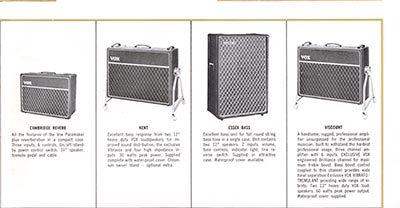 1965 Vox guitar and bass catalogue page 8