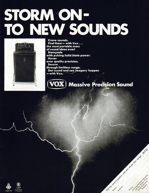 Vox advertisement (1967) Storm On - To New Sounds