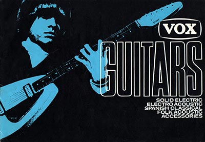 1967 Vox guitar and bass catalogue cover