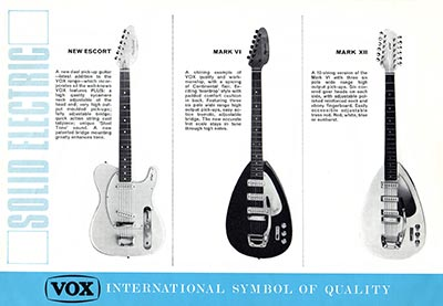 1967 Vox guitar and bass catalogue page 2