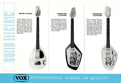 1967 Vox guitar and bass catalogue page 3