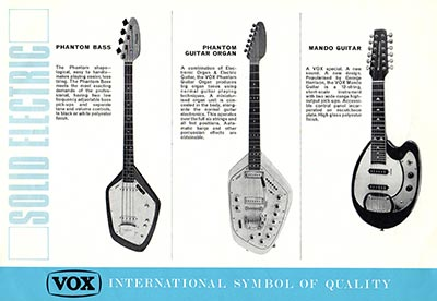 1967 Vox guitar and bass catalogue page 4