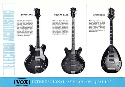 1967 Vox guitar and bass catalogue page 6