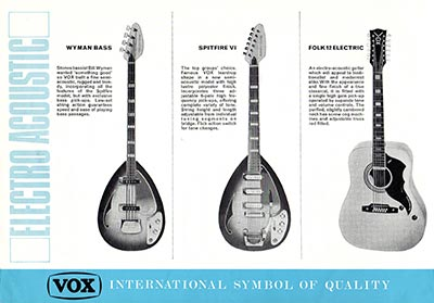 1967 Vox guitar and bass catalogue page 7