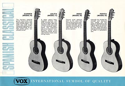 1967 Vox guitar and bass catalogue page 8