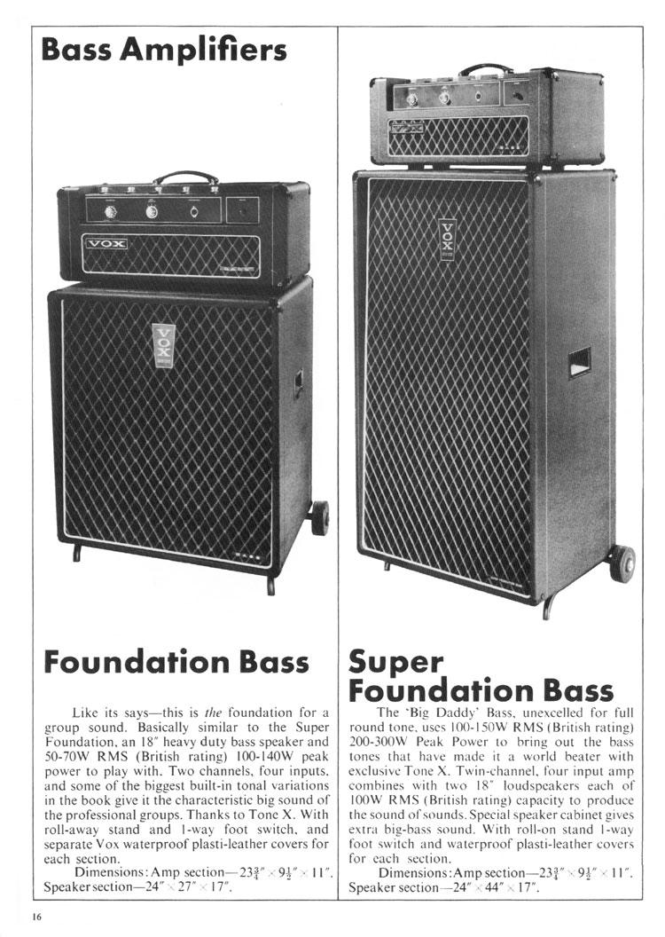 Vox bass amps vintage Vintage Vox