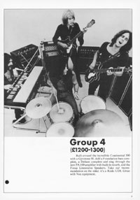 1970 Vox guitar and bass catalogue page 3