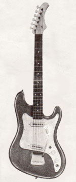 "Vox Ace electric guitar - from the Vox ""precision in sound"" catalogue, 1964"